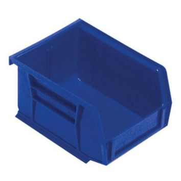 "Quantum QUS210BL Heavy-Duty Stacking Bins, 5-3/8"" x 4-1/8"" x 3"", Blue"