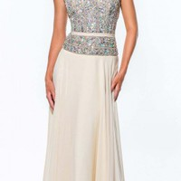 Crystal Encrusted Evening Gown by Terani Couture
