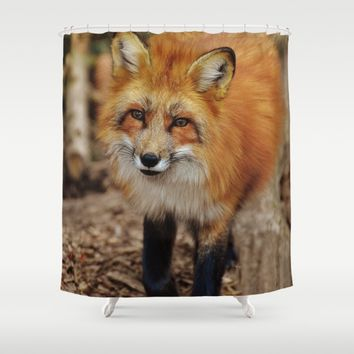 Fox Shower Curtain by Mixed Imagery