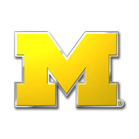 Michigan Wolverines Color Auto Emblem - Die Cut