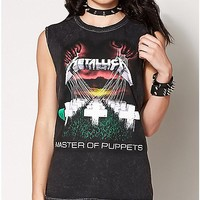 Master of Puppets Metallica Muscle Tank Top - Spencer's