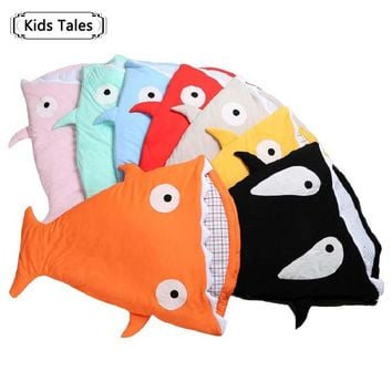 SR058 2018 Shark newborn sleeping bag sleeping bag winter stroller bed swaddle blanket wrap bedding cute baby sleeping bag