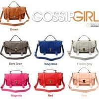 Gossip Girl Blair Real Leather Handbag Satchel by ebagsshop
