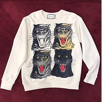 Gucci Tiger Head Fashion Long Sleeve Knit Sweater Top