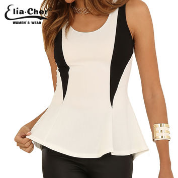 Women Blouses Tank Tops 2015 Blouse Fashion Fitness Summer Women Shirts Top Elia cher Brand Plus Size Causal Femmale Clothing