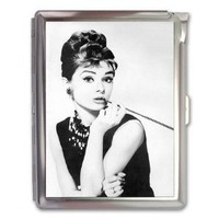 Audrey Hepburn Cigarette Case Lighter or Wallet Business Card Holder