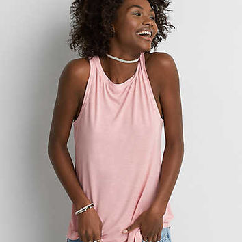 AEO Soft & Sexy Boatneck Tank , Light Pink