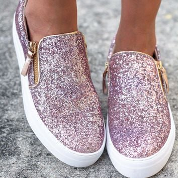 Timothy Rose Gold Sneakers