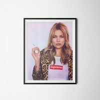 "Kate Moss Supreme, Wall Art, Digital Download, 300dpi, A3 or 18"" x 24""."