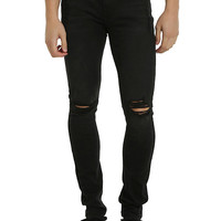 XXX RUDE Black Destructed Super Skinny Jeans