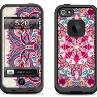 Lifeproof iPhone 5 Case Decal Skin Cover - Floral - Lifeproof iPhone 4 Case Decal