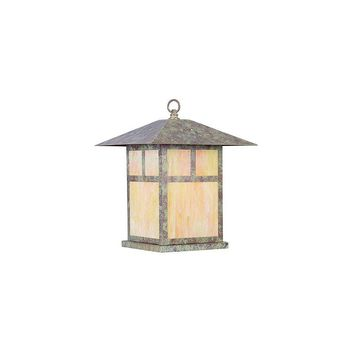 Livex Lighting Montclair Mission 1 Light Outdoor Pier Top (Verde Patina)