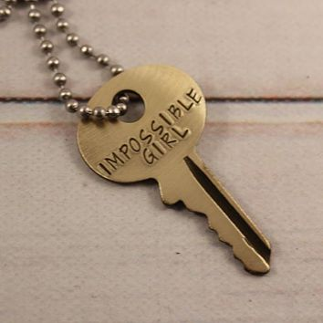 """Impossible Girl"" KEY - Doctor Who Inspired - Whovian necklace"