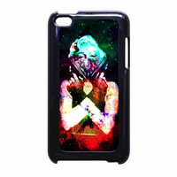 Marilyn Monroe Tattooed Flower With Pistol Gun Galaxy iPod Touch 4th Generation Case