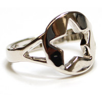 Silver Star Cut Out Ring