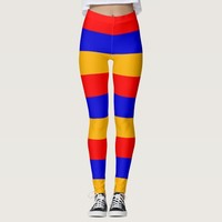 Leggings with flag of Armenia