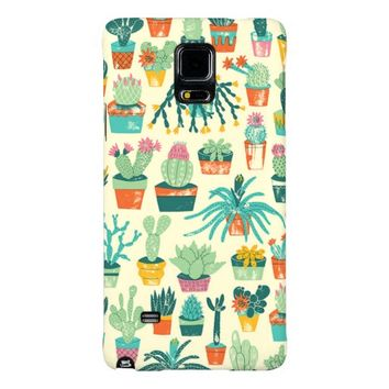 Cactus Pattern Samsung Galaxy Note 4 Case