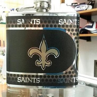 NFL New Orleans Saints 6oz Stainless Steel Flask with 360 Wrap