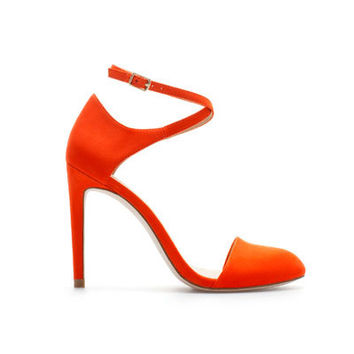HIGH HEEL VAMP SHOE WITH ANKLE STRAP - Shoes - Woman - ZARA United States