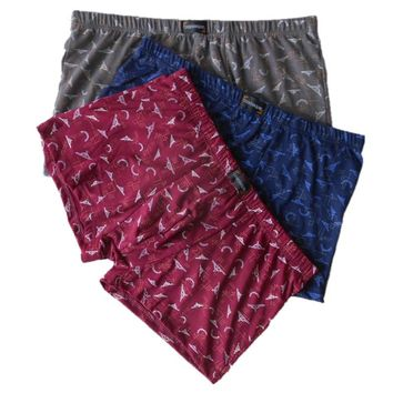 Cotton Underwear Men Boxer Four Corner  Boxers New Vogue Men Short Pants Underwears Blue Red Brown cueca boxer