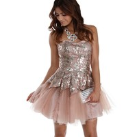 Alison- Champagne Prom Dress