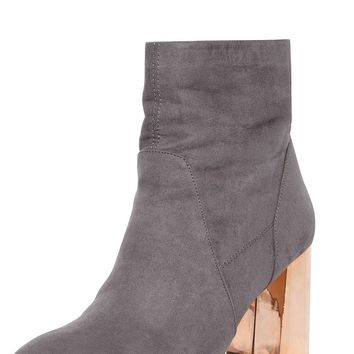 Grey 'Amanda' Metal Heel Boots - View All New In - New In