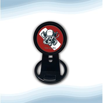 Diver Skull Red Universal Wireless Charger with Bult in Stand