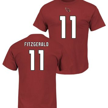 Larry Fitzgerald 2017-18 Arizona Cardinals Men's Majestic Red Eligible Receiver Name and Number T-Shirt Jersey