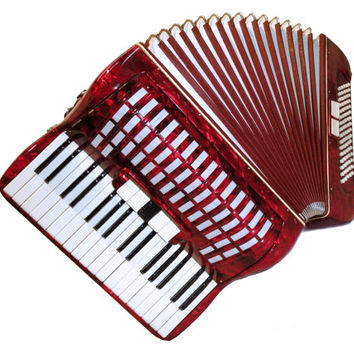 Beautiful German Piano Accordion Manmela, 80 Bass 5 + 2 Switches. Fine Sound! Musical Instrument, 321