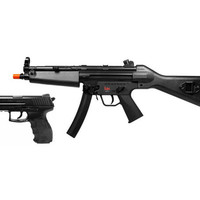 H&K MP5 Electric Rife FPS-300 And P30 FPS-275 Black Spring Pistol Airsoft Guns