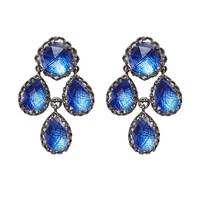 Larkspur & Hawk Antoinette Girandole Earrings - Blue Rhodium Washed Sterling Silver Earrings