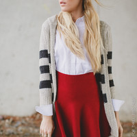 Basic Circle Skater Skirt - in red - Three Bird Nest | Women's Boho Clothing & Cute Indie Accessories