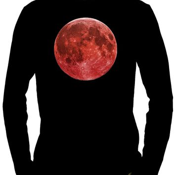 Blood Red Full Moon Long Sleeve Shirt Occult Alternative Clothing Astrology