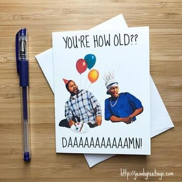 Friday Ice Cube Chris Tucker Funny Birthday Card FREE SHIPPING