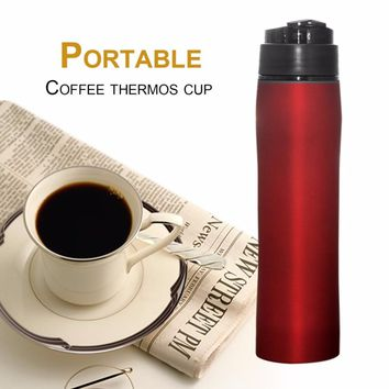 French Press Coffee Maker Coffee  Thermos Bottle Stainless Steel