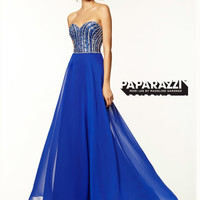Sweetheart Beaded Flowing A-line Paparazzi Prom Dress By Mori Lee 97037