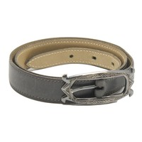 Authentic HERMES Touareg Belt Calf Charcoal Gray /49876 FREE SHIPPING