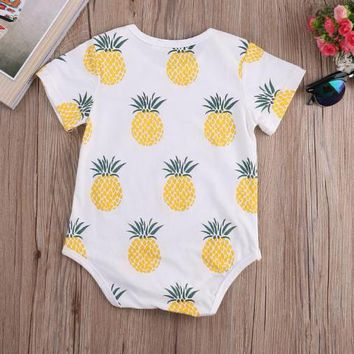 Abacaxi Kids Pineapple Onesuit Romper 3-24 Months