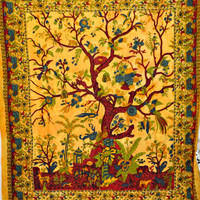 Tree of life, tapestry, wall art, bedcover , bedspread, Hippie Tapestry, Bohemian wall decal poster bedding queen size