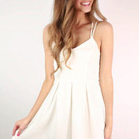 Crush On You Dress  in White