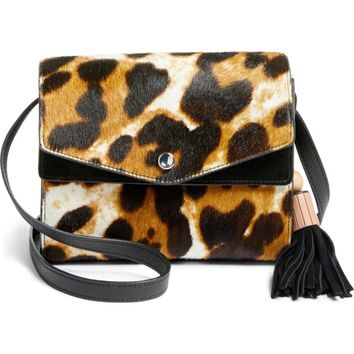 Elizabeth and James Eloise Genuine Calf Hair Field Crossbody Bag | Nordstrom