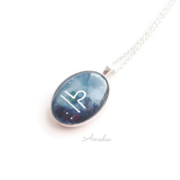 Libra pendant, zodiac jewelry, watercolour handpainted zodiac sign, with sterling silver plated chain