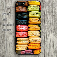 Macaroon Cake iphone 6 6 plus iPhone 5 5S 5C case Samsung S3,S4,S5 case Ipod Silicone plastic Phone cover Waterproof