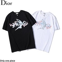 DIOR selling new casual print tops and fashionable couple t-shirts