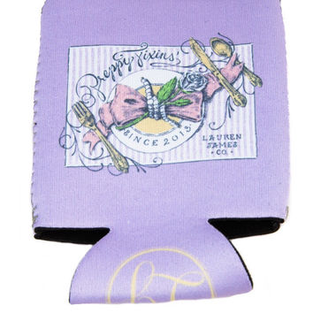 Preppy Fixins Koozie by LAUREN JAMES {Lavender}