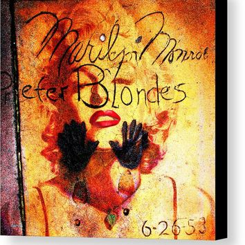 Marilyn Monroe Gentlemen Prefer Blondes 20160105 Canvas Print