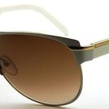 NEW AUTHENTIC GIVENCHY SGV357 COL 033M GOLD/WHITE RETRO SUNGLASSES FRAME SGV 357
