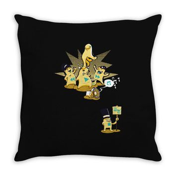 playing with monsters Throw Pillow