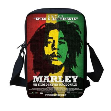 New 2017 Music Star Reggae Bob Marley Character Printed Messenger Bags Casual Michael Jackson Travel Shoulder Crossbody Bags