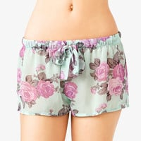 Cabbage Rose Print Shorts | FOREVER 21 - 2034709284